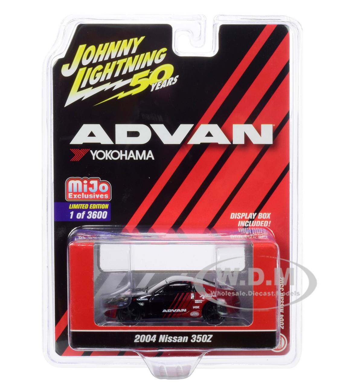 2004 Nissan 350Z ADVAN Yokohama Johnny Lightning 50th Anniversary Limited Edition to 3600 Pieces 1//64 Diecast Model Car by Johnny Lightning JLCP7241