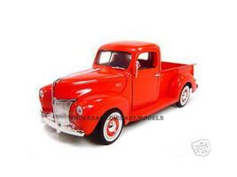 1940 Ford Pickup Truck Red 1/18 Diecast Model Truck Motormax 73170