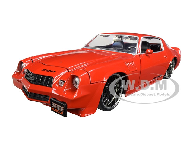 1979 Chevrolet Camaro Z28 Glossy Red Bigtime Muscle 1/24 Diecast Model Car Jada 31458