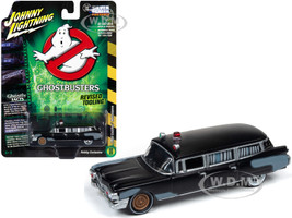 1959 Cadillac Eldorado Ambulance Black Ghostbusters 1984 Movie 1/64 Diecast Model Car Johnny Lightning JLSS005