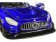 Mercedes AMG GT3 Bright Blue 1/24 Diecast Model Car Motormax 73386