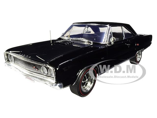1967 Dodge Coronet R/T Black Limited Edition 492 pieces Worldwide 1/18 Diecast Model Car ACME A1806603