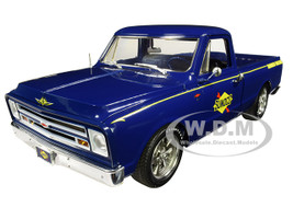 1967 Chevrolet C-10 Pickup Truck Blue Sunoco Shop Truck Limited Edition 588 pieces Worldwide 1/18 Diecast Model Car ACME A1807211