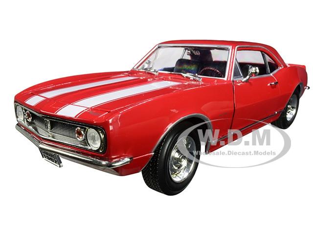 1967 Chevrolet Camaro Z/28 Red White Stripes 1/18 Diecast Model Car Road Signature 92188