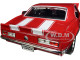 1967 Chevrolet Camaro Z/28 Red White Stripes 1/18 Diecast Model Car Road Signature 92188