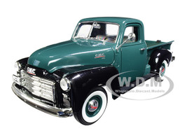 1950 GMC Pickup Truck Dark Green Black 1/18 Diecast Model Car Road Signature 92648