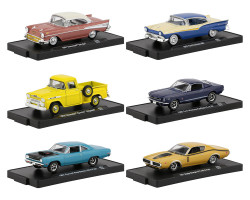 Drivers 6 Cars Set Release 63 Blister Packs 1/64 Diecast Model Cars M2 Machines 11228-63