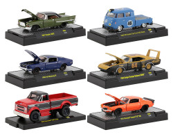 Auto Shows 6 piece Set Release 56 DISPLAY CASES 1/64 Diecast Model Cars M2 Machines 32500-56