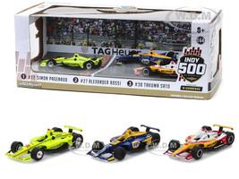 2019 Indianapolis 500 Podium 3 piece Set 1/64 Diecast Model Cars Greenlight 10856