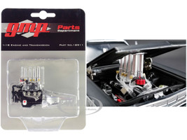Injected 427 Engine and Transmission Replica from Pork Chop's 1966 Ford Fairlane 1/18 Model GMP 18911