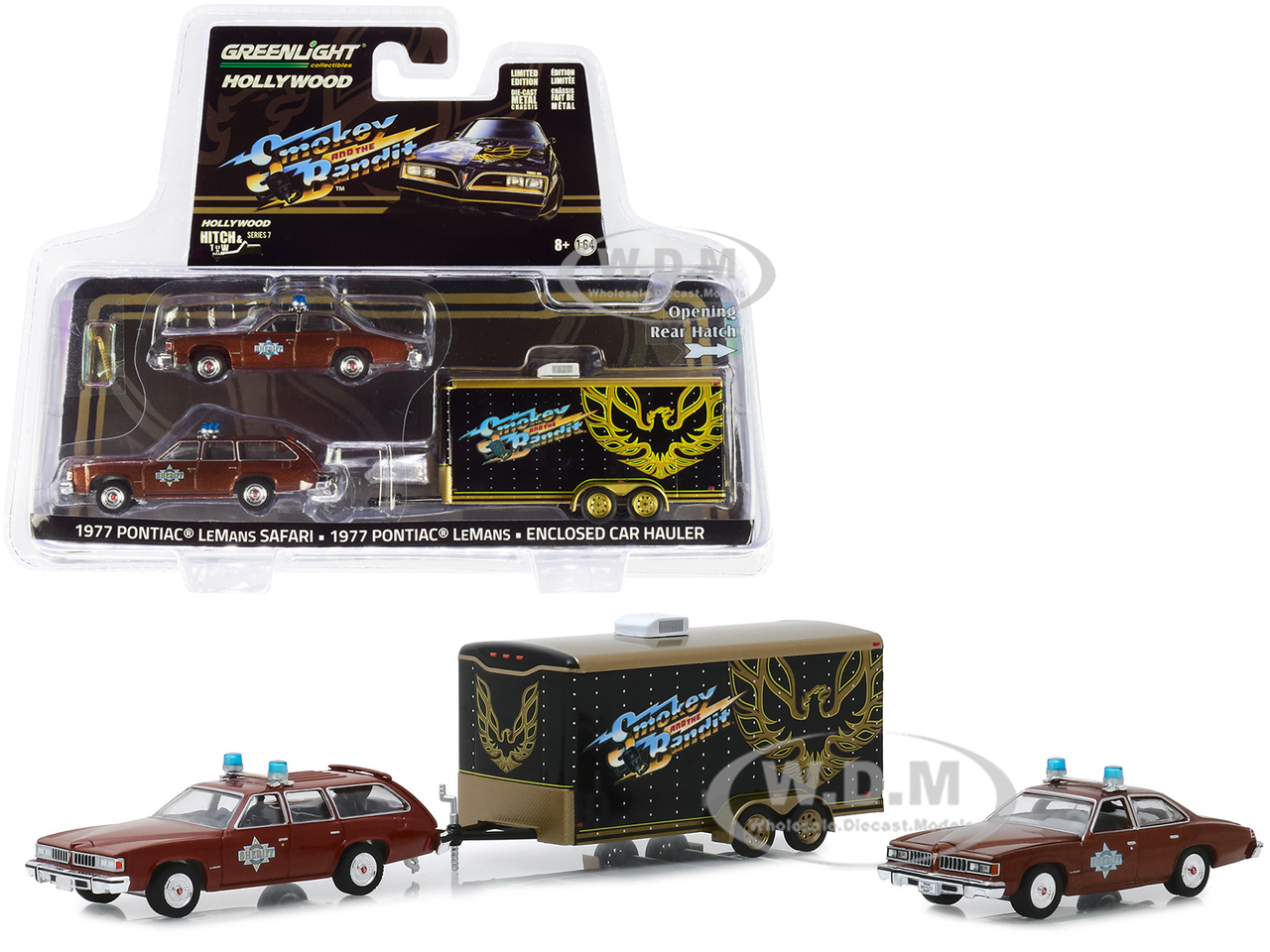 Firebird SET ** Greenlight 1:64 Smokey /& Bandit 1977 Pontiac LeMans Sheriff