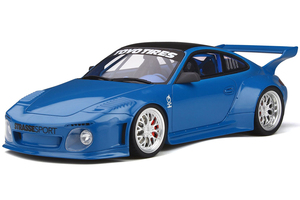 Porsche 911 997 Old & New Body Kit Strasse Sport Blue Carbon Top 1/18 Model Car GT Spirit GT222