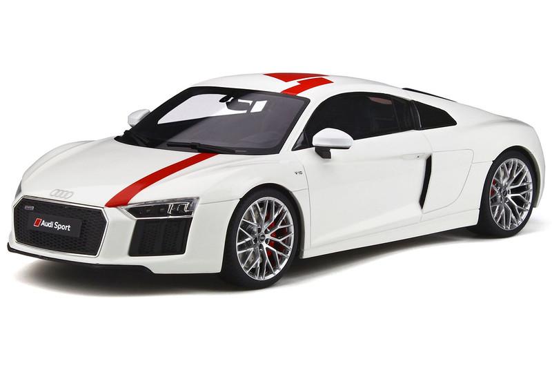 Audi R8 V10 RWS TBC White Red 1/18 Model Car GT Spirit GT247