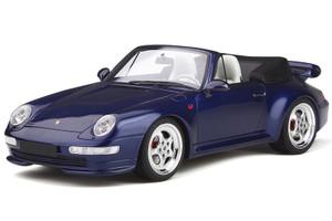 Porsche 911 993 Turbo Cabriolet Dark Blue 1/18 Model Car GT Spirit GT257