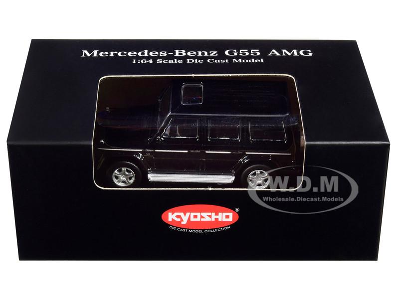 Mercedes Benz G55 AMG Black 1/64 Diecast Model Car Kyosho K07021G1