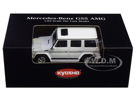 Mercedes Benz G55 AMG White 1/64 Diecast Model Car Kyosho K07021G2