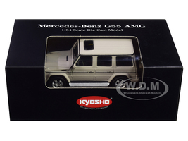 Mercedes Benz G55 AMG Gray 1/64 Diecast Model Car Kyosho K07021G10