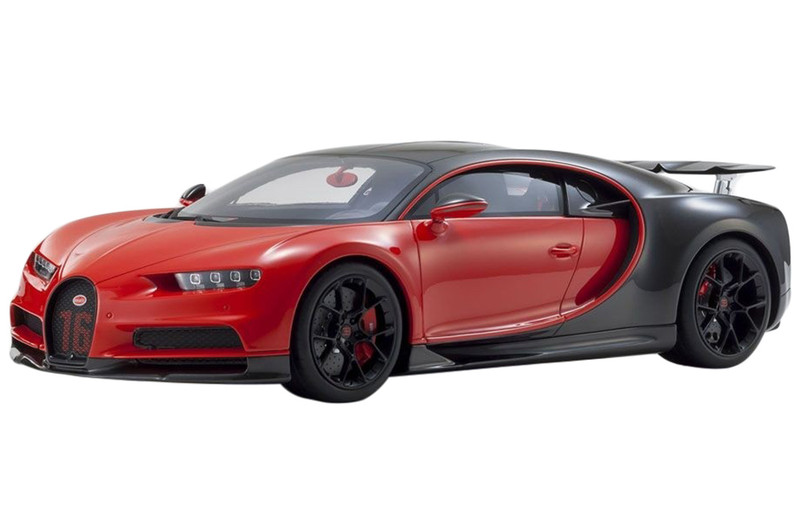 Bugatti Chiron Sport 16 Red Black 1/12 Model Car Kyosho KSR 08667 R