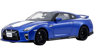 Nissan GT-R RHD Right Hand Drive Blue White Stripe 50th Anniversary 1/18 Model Car Kyosho KSR18044 BL