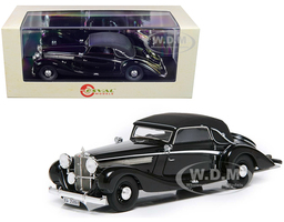 1938 Maybach SW38 Cabriolet A Spohn Top Up Black Limited Edition 250 pieces Worldwide 1/43 Model Car Esval Models EMGEMB436 B