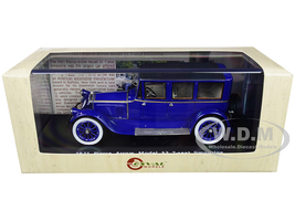 1921 Pierce Arrow Model 32 7-Seat Limousine Dark Blue Limited Edition 250 pieces Worldwide 1/43 Model Car Esval Models EMUS43043 B