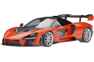 McLaren Senna Mira Orange Carbon Fiber Accents 1/18 Model Car Top Speed TS0246
