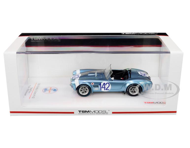 Shelby Cobra #142 Phil Hill Bob Bondurant Targa Florio 1964 1/43 Model Car True Scale Miniatures TSM 430350