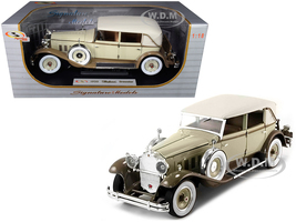 1930 Packard Brewster Tan Coffee Brown 1/18 Diecast Model Car Signature Models 18103