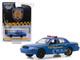 2006 Ford Crown Victoria New York City Taxi and Limousine Commission TLC Blue Hobby Exclusive 1/64 Diecast Model Car Greenlight 30092