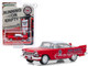 1957 Plymouth Savoy Red White Top Red Crown Running on Empty Series 9 1/64 Diecast Model Car Greenlight 41090 A