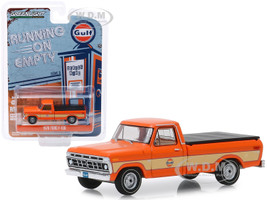 1976 Ford F-100 Pickup Truck Bed Cover Orange Gulf Oil Running on Empty Series 9 1/64 Diecast Model Car Greenlight 41090 E