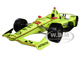 Dallara Indy Car #22 Simon Pagenaud Menards Team Penske Indianapolis 500 Champion 2019 1/18 Diecast Model Car Greenlight 11071