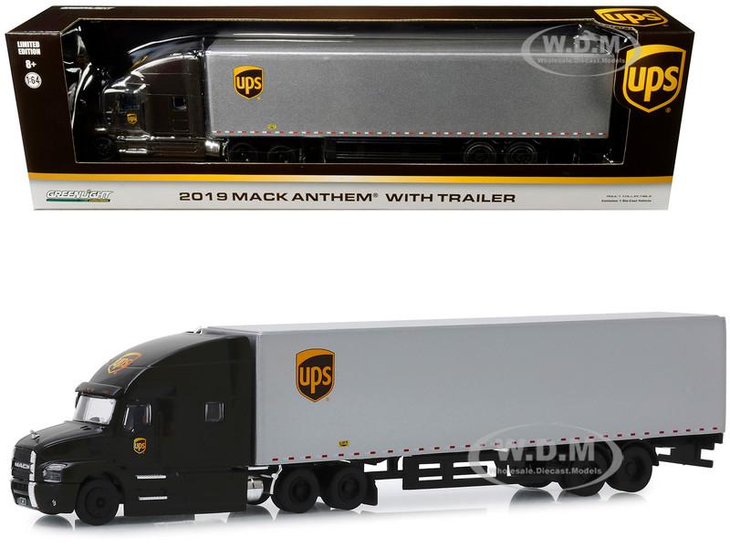 2019 Mack Anthem with Trailer United Parcel Service UPS 1/64 Diecast Model Greenlight 30089