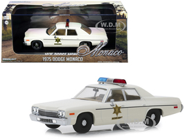 1975 Dodge Monaco Cream Hazzard County Sheriff 1/43 Diecast Model Car Greenlight 86567
