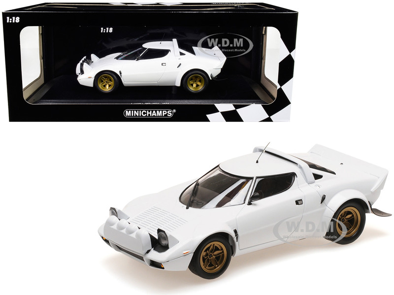 1974 Lancia Stratos White Limited Edition 300 pieces Worldwide 1/18 Diecast Model Car Minichamps 155741700