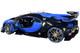 """Bugatti Vision Gran Turismo """"16"""" Bugatti Light Blue Racing and Blue Carbon Fiber 1/18 Model Car by Autoart (70986)"""