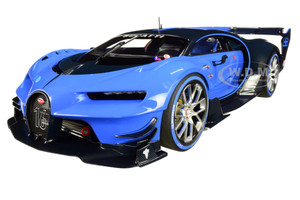 "Bugatti Vision Gran Turismo ""16"" Bugatti Light Blue Racing and Blue Carbon Fiber 1/18 Model Car by Autoart (70986)"