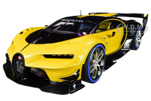 Bugatti Vision Gran Turismo 16 Giallo Midas Metallic Yellow Carbon Fiber 1/18 Model Car Autoart 70989