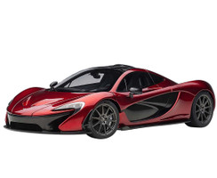 McLaren P1 Volcano Red Metallic Dark Red Carbon Fiber 1/18 Model Car Autoart 76062