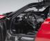 Pagani Huayra BC Rosso Dubai Red Metallic Carbon Fiber Silver Stripe 1/18 Diecast Model Car Autoart 78276