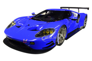 Ford GT Le Mans Plain Color Version Blue 1/18 Model Car Autoart 81812