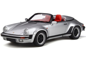 Porsche 911 Carrera 3.2 Speedster Silver Red Interior 1/18 Model Car GT Spirit GT768
