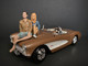 Seated Couple Release III 2 piece Figurine Set for 1/18 Scale Models American Diorama 38217 38218