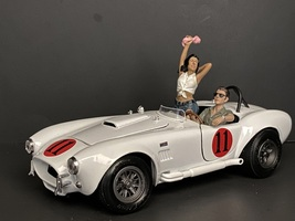 Seated Couple Release IV 2 piece Figurine Set for 1/18 Scale Models American Diorama 38219 38220