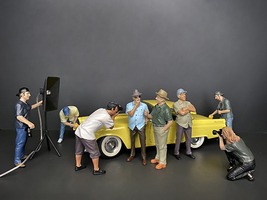Weekend Car Show 8 piece Figurine Set for 1/24 Scale Models American Diorama 38309 38310 38311 38312 38313 38314 38315 38316
