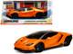 Lamborghini Centenario Metallic Orange Hyper-Spec 1/24 Diecast Model Car Jada 99363