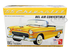 Skill 3 Model Kit 1955 Chevrolet Bel Air Convertible 2 in 1 Kit 1/16 Scale Model AMT AMT1134