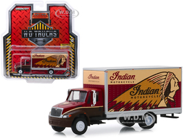 International Durastar Box Van Indian Motorcycle HD Trucks Series 17 1/64 Diecast Model Greenlight 33170 A
