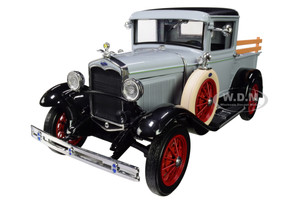 1931 Ford Model A Pickup Truck French Gray Black Top 1/18 Diecast Model Car SunStar 6115