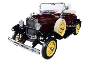 1931 Ford Model A Roadster Ford Maroon 1/18 Diecast Model Car SunStar 6124